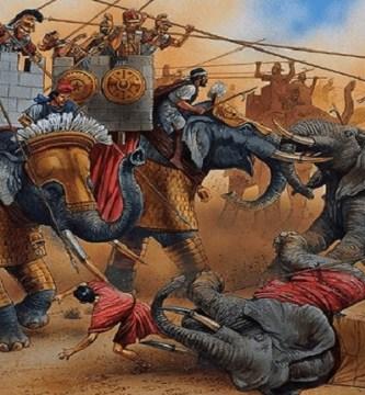 Reconstrucción de la batalla de Gabiene (316 a.C.), una de las más importantes de la Guerra de los Diádocos