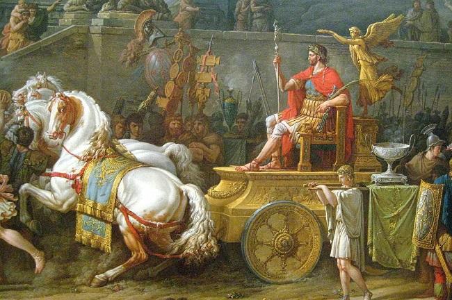 El triunfo de Emilio Paulo, obra de Carle Vernet hecha en 1789 sobre la batalla de Pidna