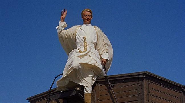 Peter O´Toole en la película Lawrence de Arabia