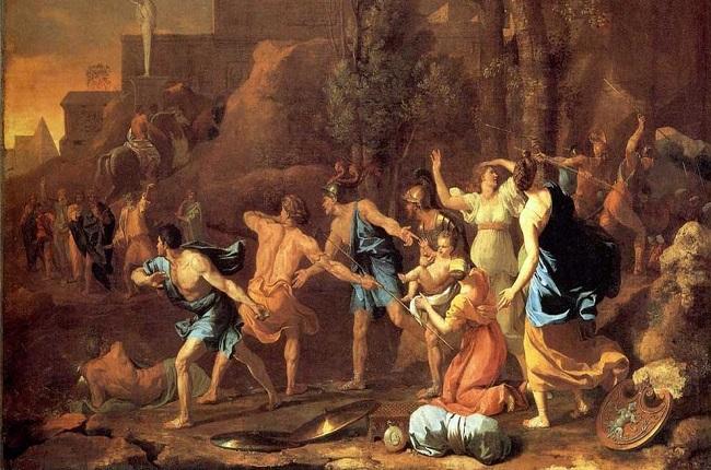 """""""El salvamento de Pirro de Epiro"""", obra del francés Nicolas Poussin hecha en torno a 1637 (Fuente: La Vanguardia)"""