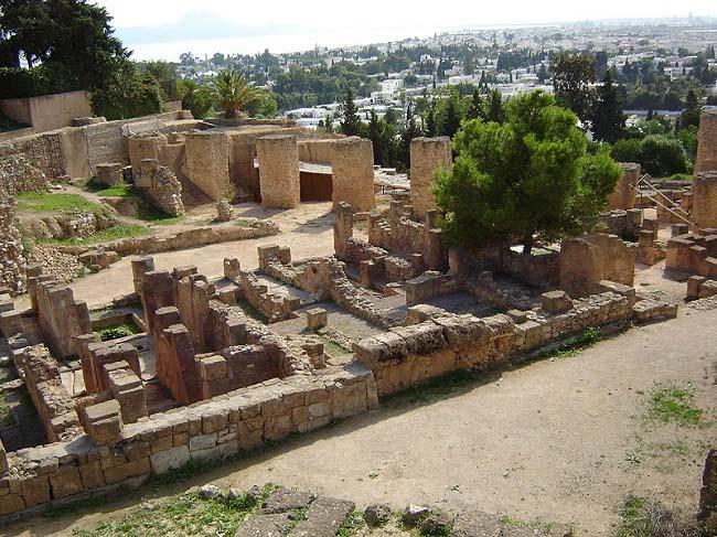Parte del yacimiento arqueológico de la ciudad, objeto del conflicto entre Roma y Cartago