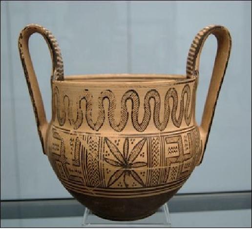Cerámica ática de época arcaica con una posible hoja de cannabis, usada en la medicina griega prehipocrática