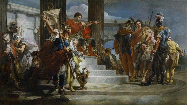 Escipión el Africano liberando a Massiva, obra de Tiepolo sobre el gran personaje de la segunda guerra púnica