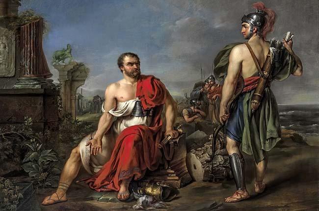 Cayo Mario, autor de las reformas de Mario, sentado en las ruinas de Cartago, obra de Joseph Kremer hecha en el siglo XVIII