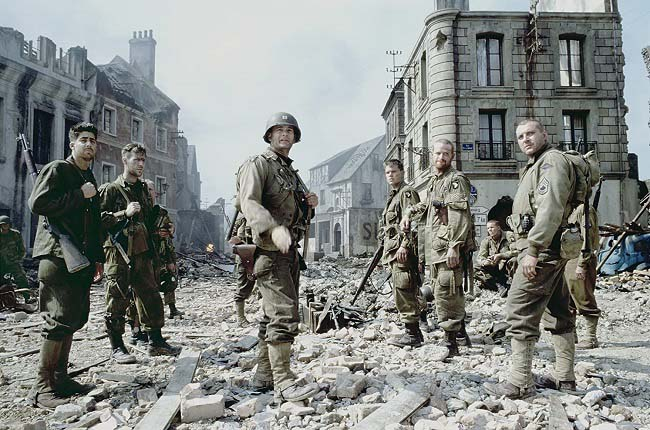 Algunos de los personajes del reparto de Salvar al soldado Ryan