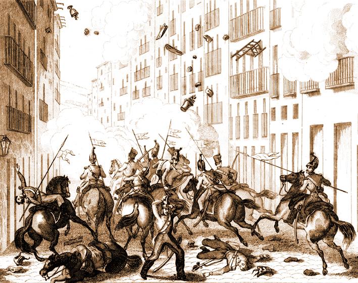 Història de Catlaunya. Revolució 1842, combats 15 de novembre