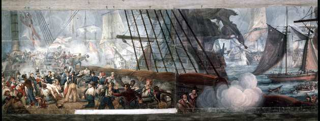 Panorama of the Battle of Trafalgar by William Lionel Wyllie