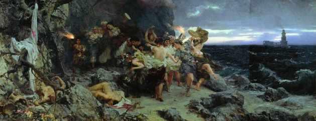 Tiberius feierte seine Orgien bevorzugt auf Capri