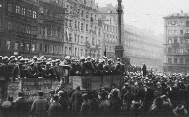Ankunft am Marienplatz