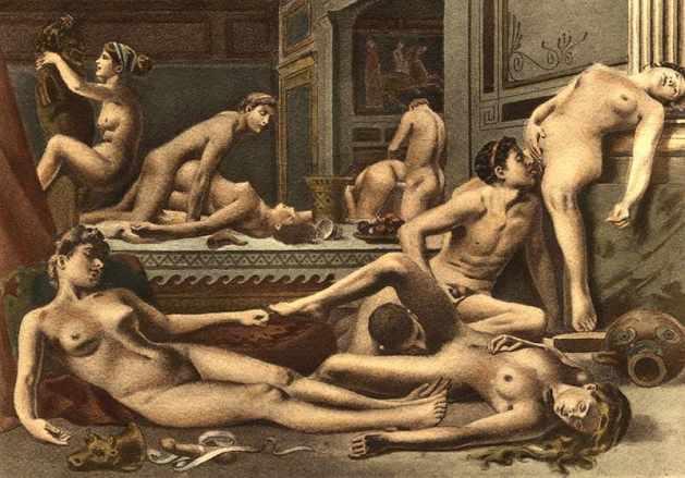 """Die Orgie"" von Édouard Henri Avril"