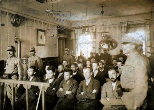 Ein undatiertes Foto aus dem Gerichtssaal