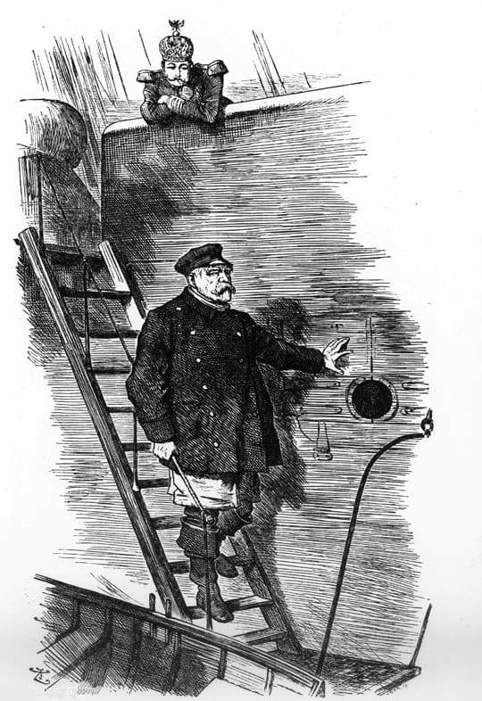 """Dropping the Pilot"" Sir John Tenniel, 29.03.1890, Punch Magazine"