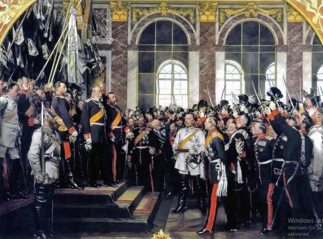 Das berühmte Bild Anton von Werners - Kaiserproklamation am 18. Januar 1871