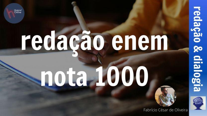 redação nota 1000