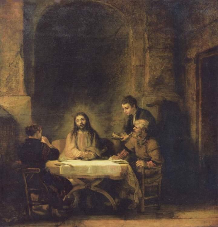 Rembrandt, A Ceia de Emaús