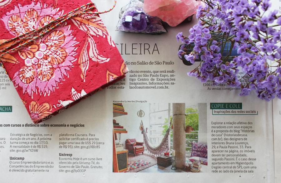 Nota no caderno Sobre Tudo, da Folha de São Paulo