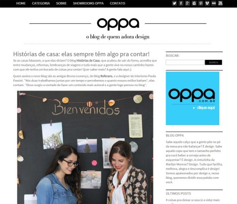 Entrevista no site da Oppa