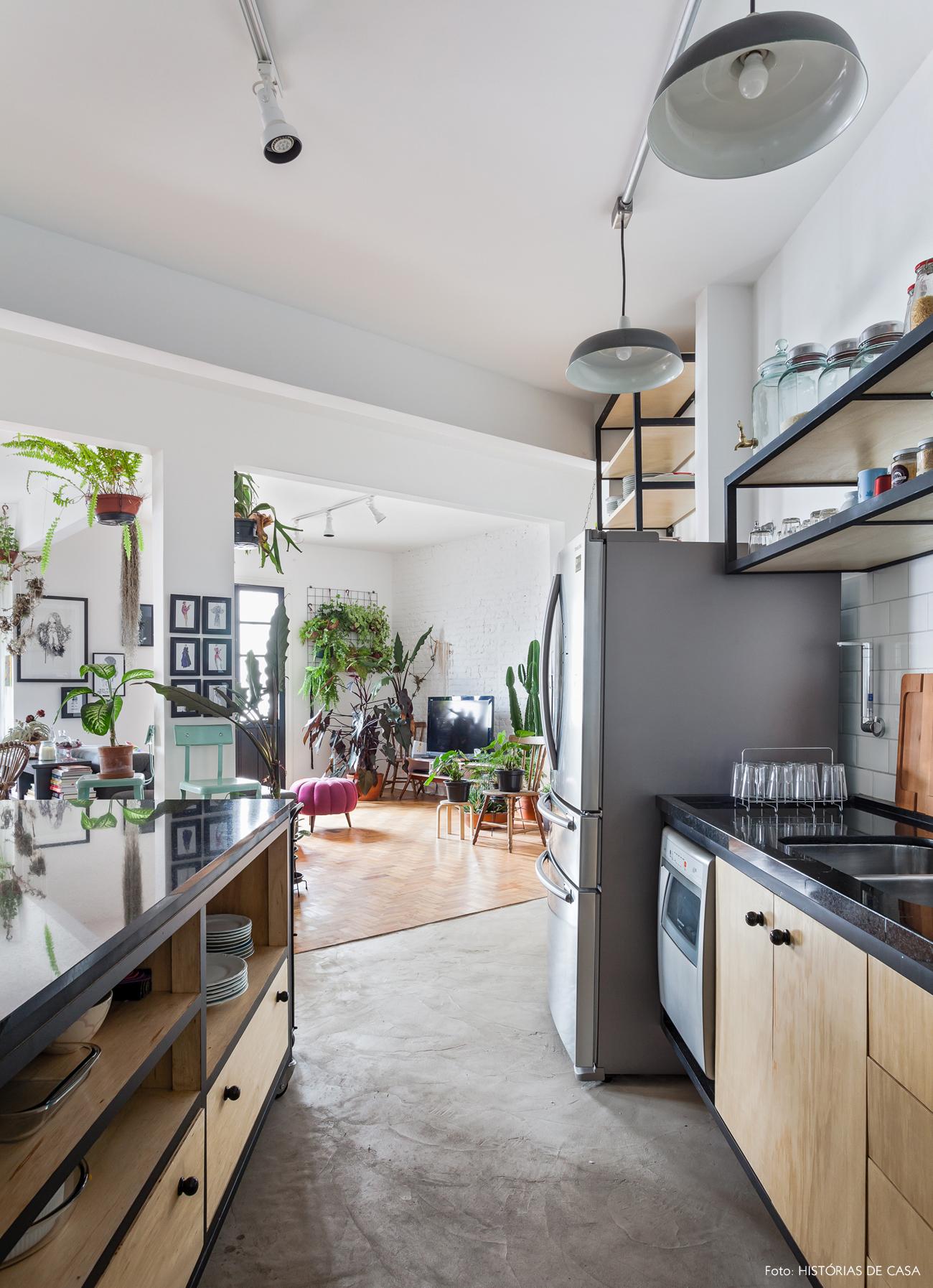 33-decoracao-cozinha-integrada-piso-cimento-queimado