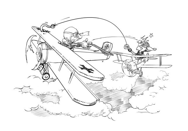 Primeros combates aéreos