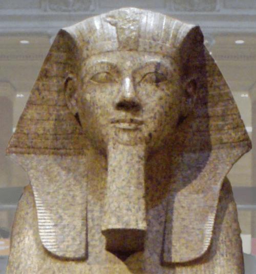 Esfinge de Hatsheptshut con barba faraónica