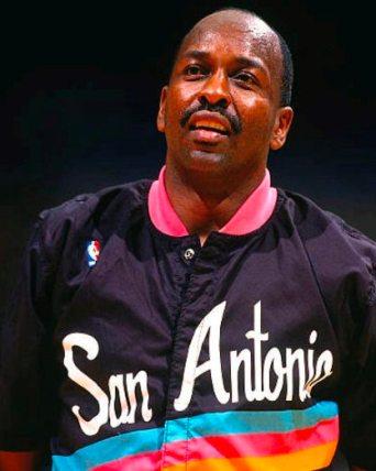 Moses Malone en la última etapa de los Spurs