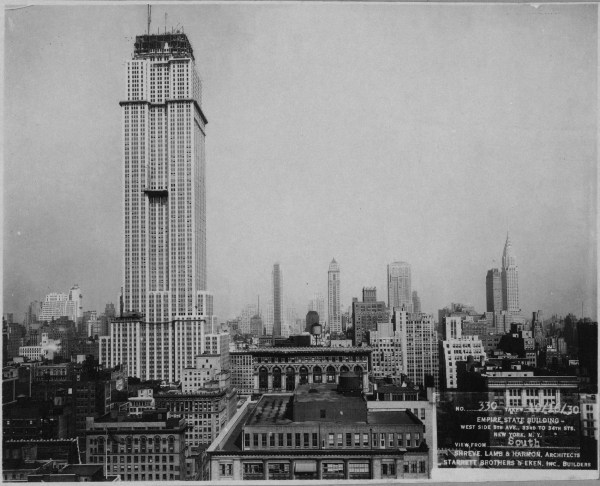 New York City Empire State Building 1930