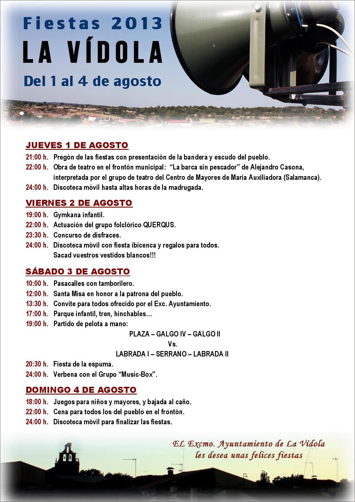 Fiestas En Agosto 2013  Historias De Pueblo