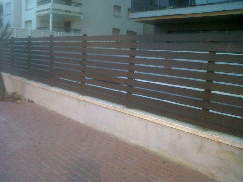 Modelos de valla las vallas de ocultaci n vinuesa - Vallas exteriores para casas ...