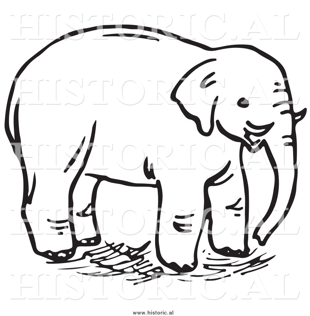 Clipart Of An Elephant With Tusks