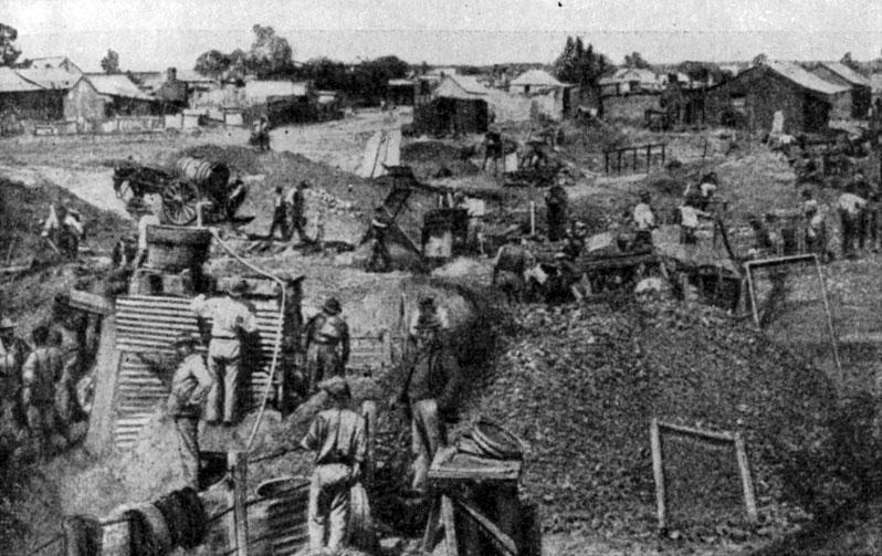 Diamond mining. Photo. 1870