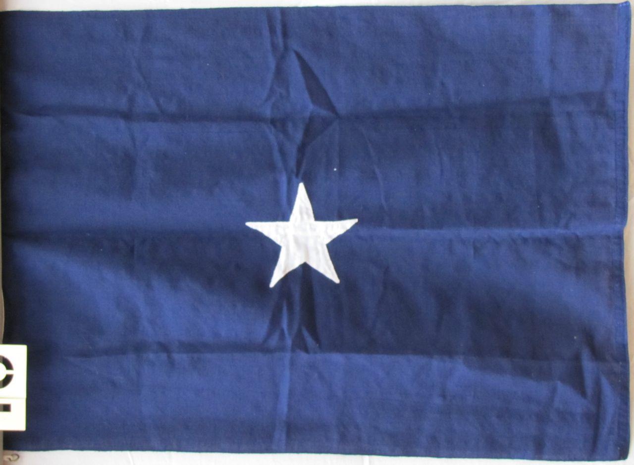 Vintage One Star Admirals Flag  Historical Americana