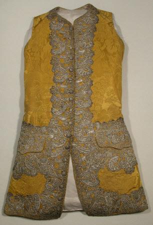 Yellow waistcoat, 1750-60, Snowshill Collection