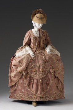 Skirt looped up in a Polonaise style circa 1750 to 1775