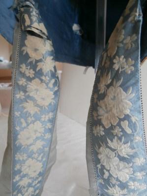 Silk ribbon detail, Poke Bonnet 1815-20