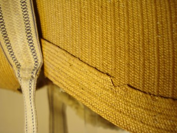 Detail of plaited straw, early 19th C., Snowshill Costume collection