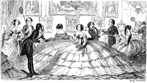 The crinoline in polite society, 19th century satire.