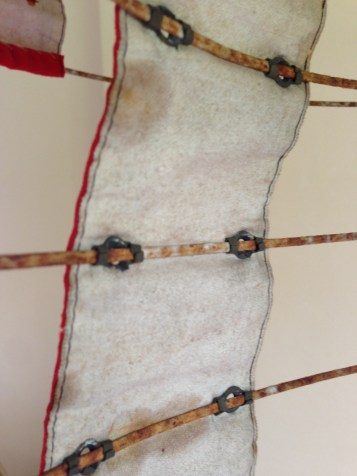 Metal Claw Detail, bustle crinoline, 1870s, Snowshill Costume Collection