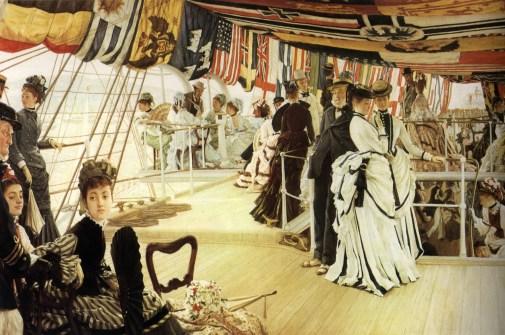 James Tissot, The Ball on Shipboard, 1874