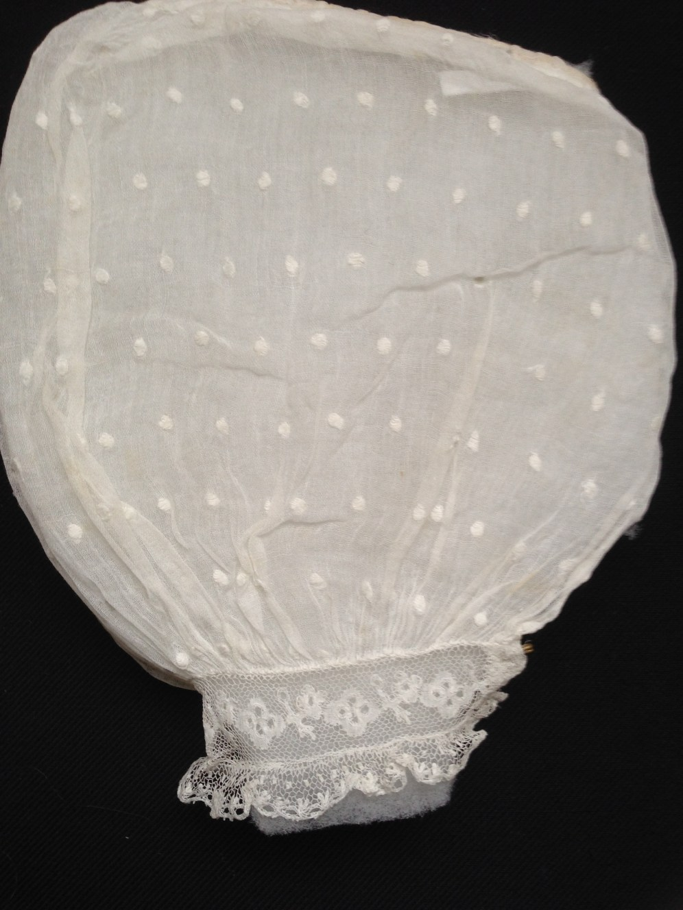19th Century whitework puff sleeve, Honiton Lace, Charles Paget Wade Costume Collection at Berrington Hall
