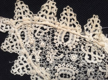 Chemical Lace Collar detail, Charles Paget Wade Costume Collection at Berrington Hall