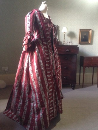 1770s sackback dress, 'Gorgeous Georgians' exhibition at Berrington Hall 2014, Charles Paget Wade Collection