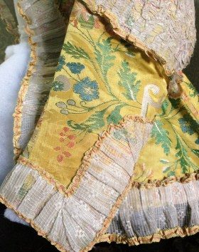 Sleeve Detail. Riding Jacket, Gorgeous Georgians at Berrington Hall 2014. From the Charles Paget Wade Collection stored at Berrington Hall.