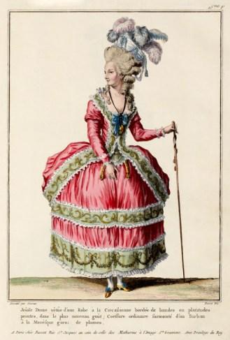 Gallerie des Modes et Costumes, Robe à la Circassienne, 1770's, http://www.ekduncan.com