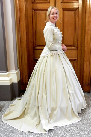 1865, Military Inspired Suit, Hereford. Professor Nancy Hills, 'Symphony In White' exhibition at Berrington Hall throughout 2014.