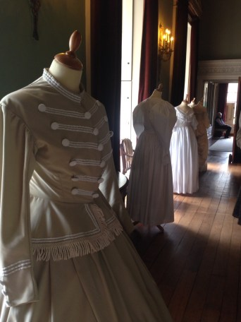 1865, Military Inspired Suit, Hereford. Professor Nancy Hills 'Symphony In White' exhibition at Berrington Hall throughout 2014.