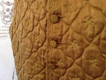 1780-90, Tamboured lozenge design, Wearing The Garden at Berrington Hall, May 1st - June 30th 2014