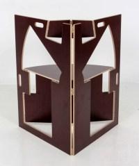 Historical Design I Werner Schmidt Folding Triangle Chair