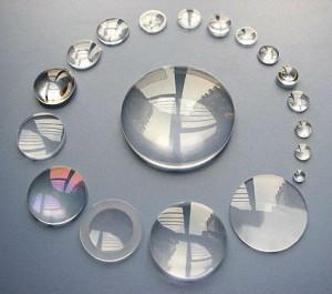 sfere di vetro utilizzate per ingrandire