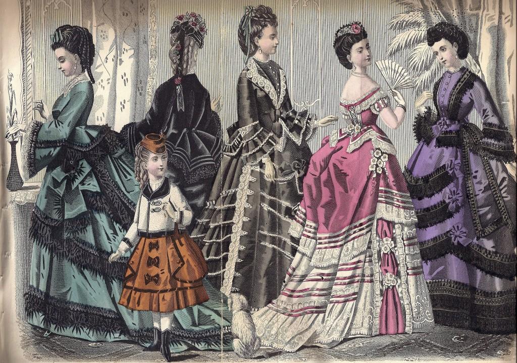 Dressing A Lady  Circa 1872