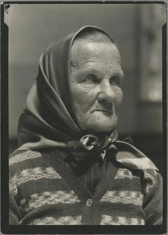 A Czech-Slovak grandmother who just arrived at Ellis Island, 1926.